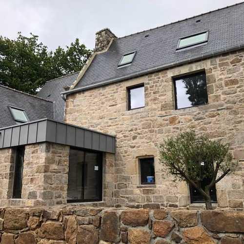 Rénovation fenêtres alu - maison pierre - Ploubezre (22)