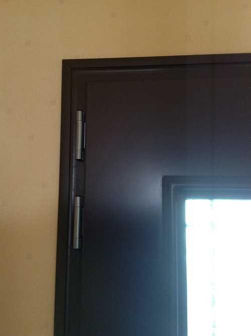 Porte d''entrée alu, avec nouvelles paumelles 3D - Bégard 1209