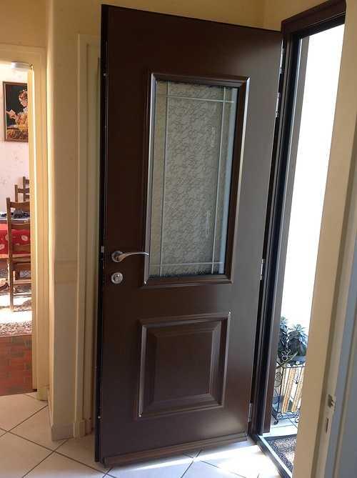 Porte d''entrée alu, avec nouvelles paumelles 3D - Bégard 1212