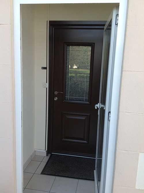 Porte d''entrée alu, avec nouvelles paumelles 3D - Bégard 0