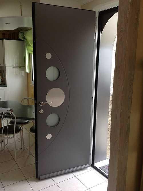 Porte entrée alu et double porte vitrée alu plein cintre - Bégard 1280