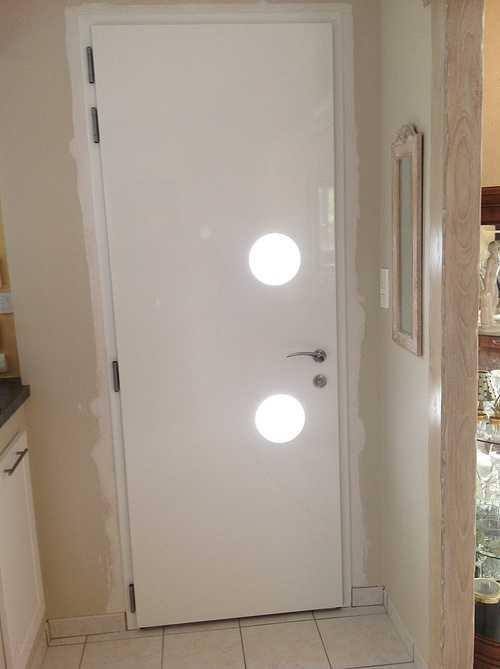 Porte entrée alu et double porte vitrée alu plein cintre - Bégard 1281