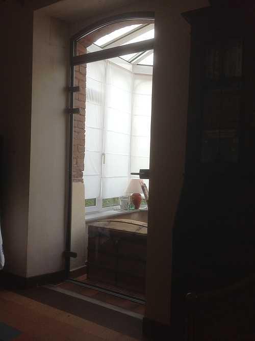 Sas double porte vitrée cadre alu sur véranda - Trébeurden 708