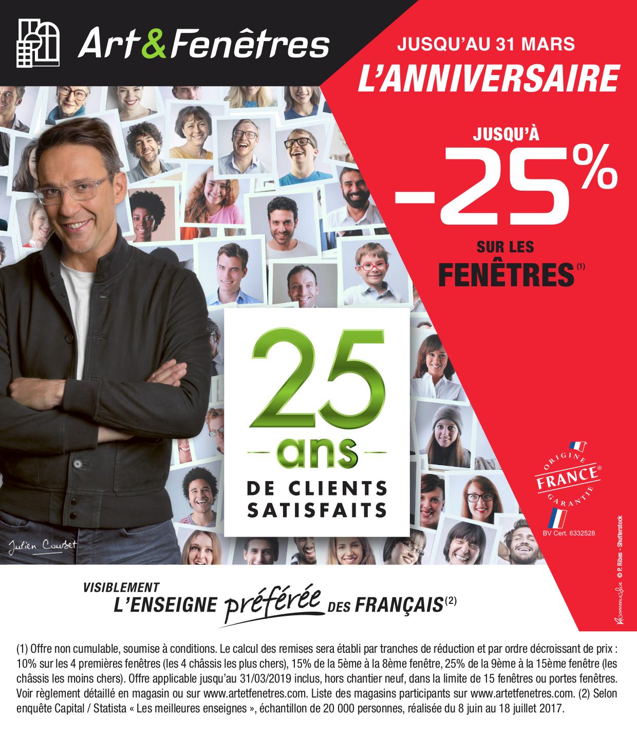 Art Et Fenetre Caudan jusqu'à - 25% sur toute la gamme de fenêtres art & fenêtres